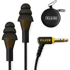 Ruckus Wired Earplug Headphones   OSHA Compliant Earbuds   Noise Isolating Black