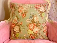 "RALPH LAUREN CHARLOTTE IV FLORAL ROSES SHABBY CHIC 16"" SQUARE COMPLETE PILLOW"