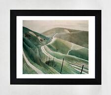 Framed print - Ravilious - Chalk Paths - fine art giclee print in polcore frame