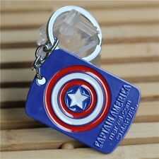 Marvel Comics CAPTAIN AMERICA Dog Tag The Avengers Movie Metal Key chain cosplay