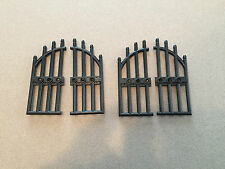 LEGO Black Iron Gate - Lot of 2 - Cemetery Castle Gates  - Multiple Lots Avail.