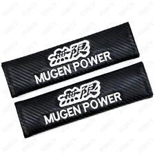 2X Carbon Fiber Car Seat Belt Cover Pads Shoulder Cushion For MUGEN POWER Gift