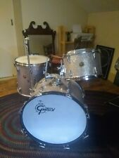 Vintage Gretsch Silver Sparkle Drum Set