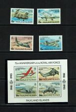 Falkland Islands:1993 75th Anniversary of the Royal Air Force, MNH + M/sheet.