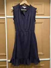 Paris Atelier & OTHER STORIES navy polkadot cotton gauze sleeveless dress sz 10