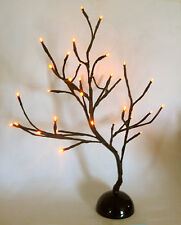 LED Lighted Stick Halloween Haunted House Tree Orange 32 Lights Party Decoration