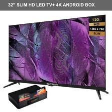 "Elitelux 32"" SLIM HD LED TV &  SMART 4K ANDROID MEDIA PLAYER NO GEO RESTRICTION"