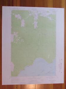 Knappton Washington 1976 Original Vintage USGS Topo Map