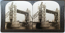 Keystone Stereoview of New Tower Bridge, London, ENGLAND from 1930's T600 Set #A