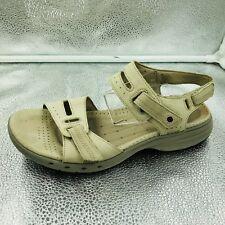 Clarks Unstructured Un Sailor Sz 5.5 38.5 Cream Leather Womens Sandals