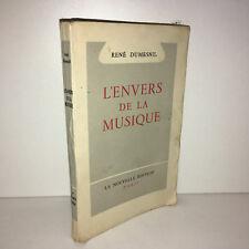 René Dumesnil L'ENVERS DE LA MUSIQUE le monde des musiciens et danse 1948 - BB8A