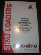 Mustang 2022 2032 Skid Steer Loader Operator Operation Amp Maintenance Manual Book