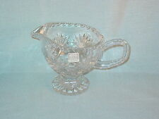 FIFTH AVENUE CRYSTAL FOOTED CREAMER MILK PITCHER WITH LABEL