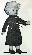"""Vintage 50's Knitting Pattern DOLLY DOLLS CLOTHES, DRESSING GOWN,SLIPPERS 10-16"""""""