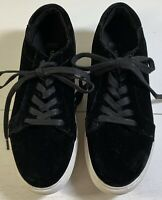 Kenneth Cole New York Abeo Women's Black Velvet Sneakers Tennis Shoes Size 8 N