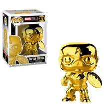 "Funko Pop Captain America GOLD CHROME 3.75"" Vinyl Figure Marvel Studio IN STOCK"