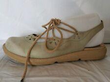 Dansko Womens 7.5 - 8 M EU 38 Slingback Lace Up Sandals Leather Light Green Shoe