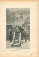 Le petit Turenne Canon par Henri-Paul Motte Peintre GRAVURE ANTIQUE PRINT 1908