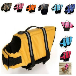 For Dog Puppies Swimming Swim Life Jackets Waterproof Large Small Accessories