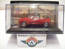 Talbot Samba Cabriolet, Rot, 1983, IXO 1:43, OVP
