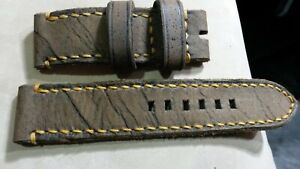 handmade watch strap genuine leather 24 mm for Panerai