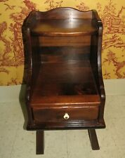 Ethan Allen Antiqued Tavern Pine Bookstand Accent End Table  or Night Stand