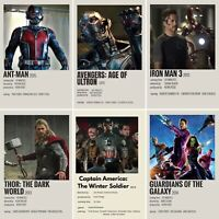 Marvel Movies Star Wars Photos Prints Avengers Ironman Guardians Of Galaxy
