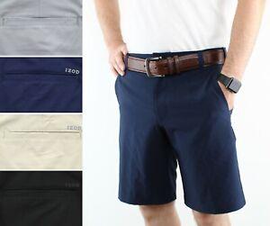IZOD Mens Golf Shorts Gold Swing Flex Short Flat Front Straight Fit 45BG202