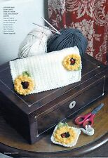 ~ Knit & Crochet Patterns For Girl's Frill Edge Cardigan & Craft Kit Cases ~