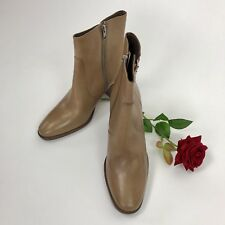 J.Crew Womens Zipper Leather Ankle Boots Fall Booties Tan Light Brown Size 9.5