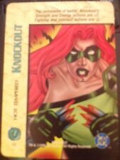 DC Overpower Knockout Hot Tempered NrMint-Mint Card