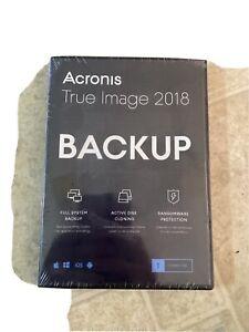 Acronis True image 2018 BACKUP