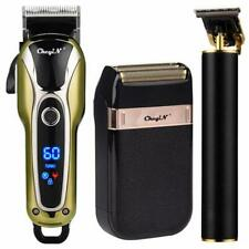 Professional Hair Clipper Men Barber Rechargeable T Blade Cutting Machine Beard
