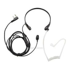 UN3F 2Pin PTT Throat Mic Covert Acoustic Tube Earpiece Headset for Baofeng UV-5R
