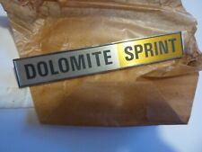 TRIUMPH DOLOMITE SPRINT BOOT BADGE.  NOS.  Part no ZKC 3062.  UNMARKED CONDITION