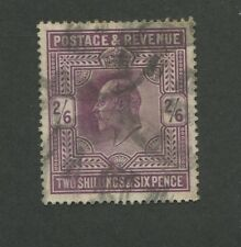 1911 Great Britain United Kingdom King Edward VII 2 Shilling Postage Stamp #139a