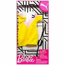 2019/ 2020 Barbie Doll PUMA Fashion Pack YELLOW DRESS MATTEL