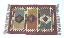 Handwoven Floor Kilim Rugs wool Jute Rugs Hand loomed Rustic Rugs Indian 2x3-1