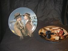 2 Knowles CASABLANCA PLATE Heres LOOKING AT YOU KID/ We'll ALWAYS HAVE PARIS New