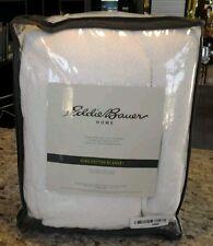 Eddie Bauer 200614 Herringbone Cotton Blanket, King, White