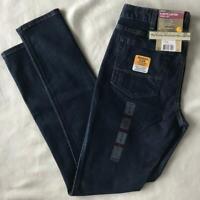 NEW Carhartt Slim-Fit Layton Skinny Leg Jean Slim Stretch BLUE womens size 8 REG
