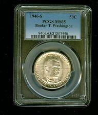 1946-S Booker T. Washington Half Dollar Silver Commemorative 50C PCGS MS 65