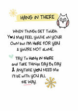 Hang In There Inspired Words Greeting Card Blank Inside