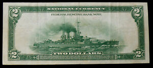 1918 $2 BATTLESHIP SOLID VF/XF NOTE FR-748 BOSTON - SEE PICTURES