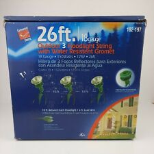 Outdoor 3 Floodlight String Commercial Electric 26ft 18 Gauge 150 Watts
