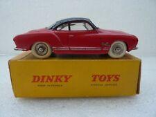 DINKY TOYS FRANCE 530 / 24M VW KARMAN GHIA ROUES CONCAVES + BOITE