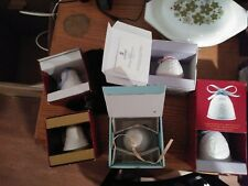 Lot of 5 Lladro Christmas Bell Ornaments 89, 96, 98, 2000