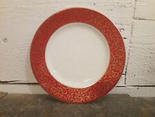 """Mikasa Parchment Red Salad Plate 8"""" MULTIPLES AVAILABLE"""