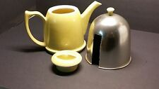 VINTAGE RETRO YELLOW HALL TEAPOT WITH WARMING INSULATED COZY COVER