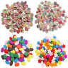 100Pcs 2 Holes Wood Mix Wooden Buttons Handmade Sewing Scrapbooking DIY Craft